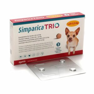 Simparica Trio 1.25 2.5 1 Hrana uscata pisici