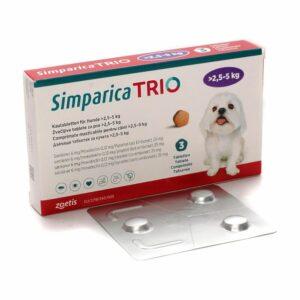 Simparica Trio 2.5 5 Hrana uscata pisici
